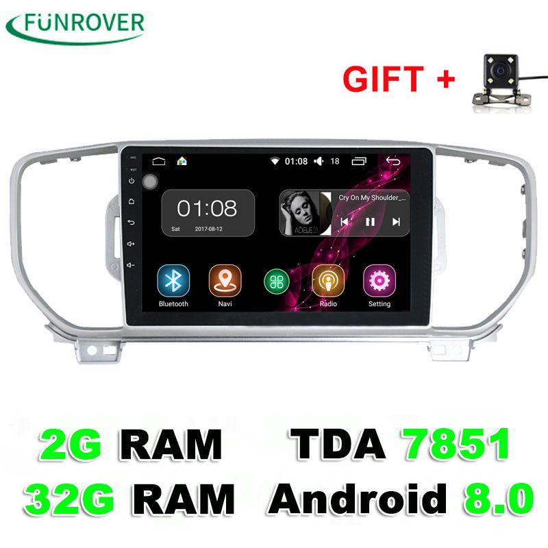 Funrover 9 Inch Car dvd Player For KIA Sportage 2016 2017 Kx5 2G+32G navigation car radio stereo headunit car multimedia player