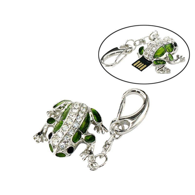 Mignon Grenouille USB Flash Drive 32 GB Diamant Stylo Lecteur 16 GB 8 GB 4 GB 2 GB 128 MB Pendrive Mémoire Sticj USB 2.0 U disque