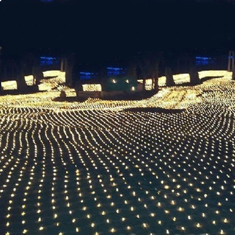 3 m * 2 m 200 LED Net Maille Chaîne de Fée Lumière De Noël De Mariage parti Fée Lumière de Corde avec 8 Fonction Contrôleur UE UA Plug
