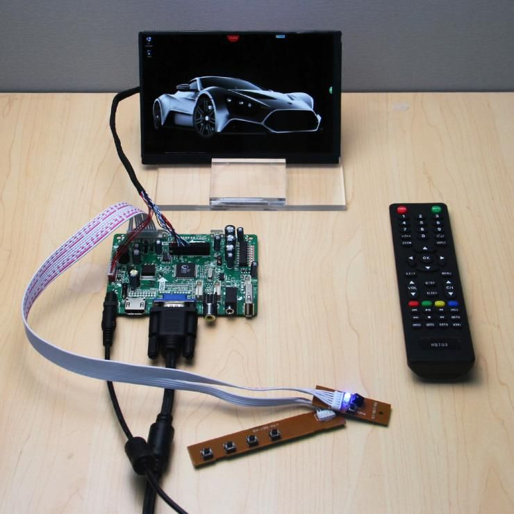 1 x (HDMI+VGA+CVBS+AUDIO+USB) Controller Board+N070ICG LD1 LD3 LD4 L21 7