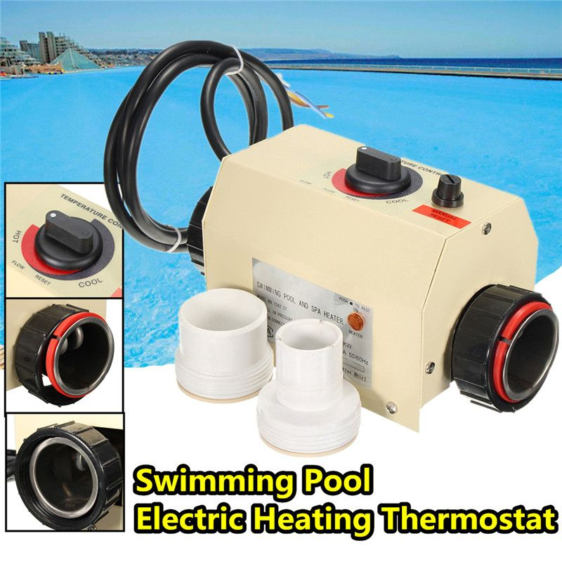 SPA Heater Water Sports 3KW Electric Swimming Pool SPA Bath Heating Tub Water Heater Thermostat 220V Swimming Pool Accessories