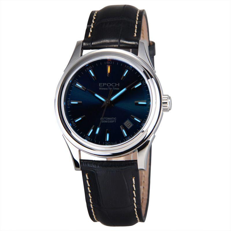 EPOCH 6029G SEA-GULL movement tritium gas luminous sapphire mirror mens business automatic mechanical watch wristwatch