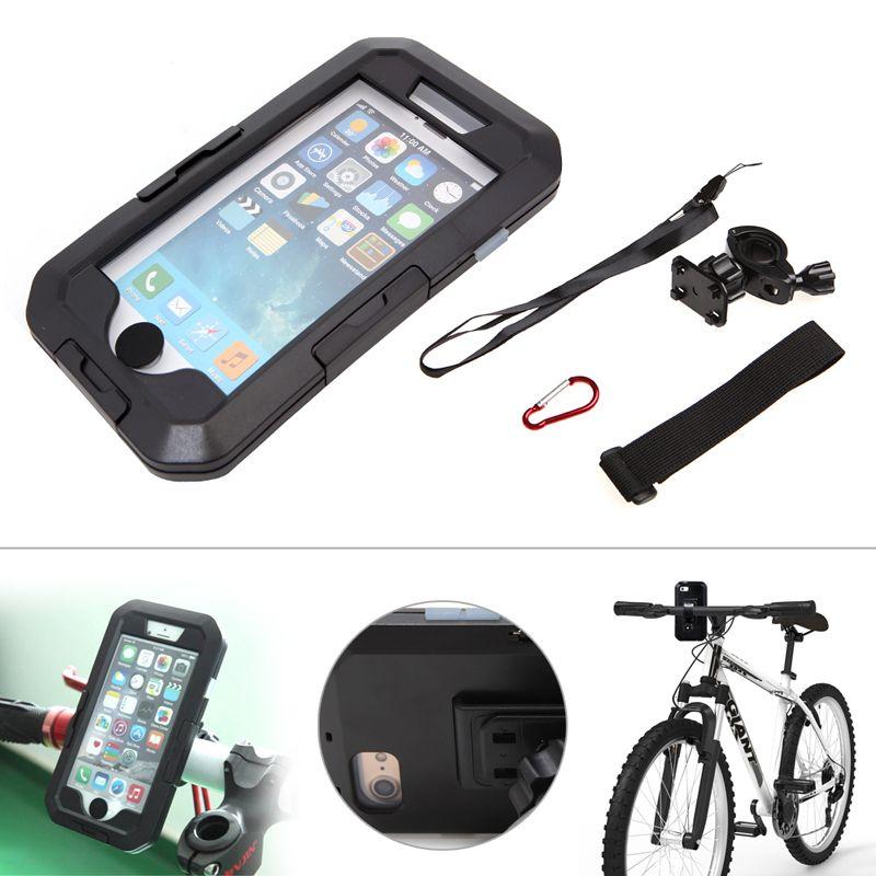 1 Set Waterproof Outdoor Bicycle Motorcycle Bike Mount Holder Case for iPhone7/ 7 Plus
