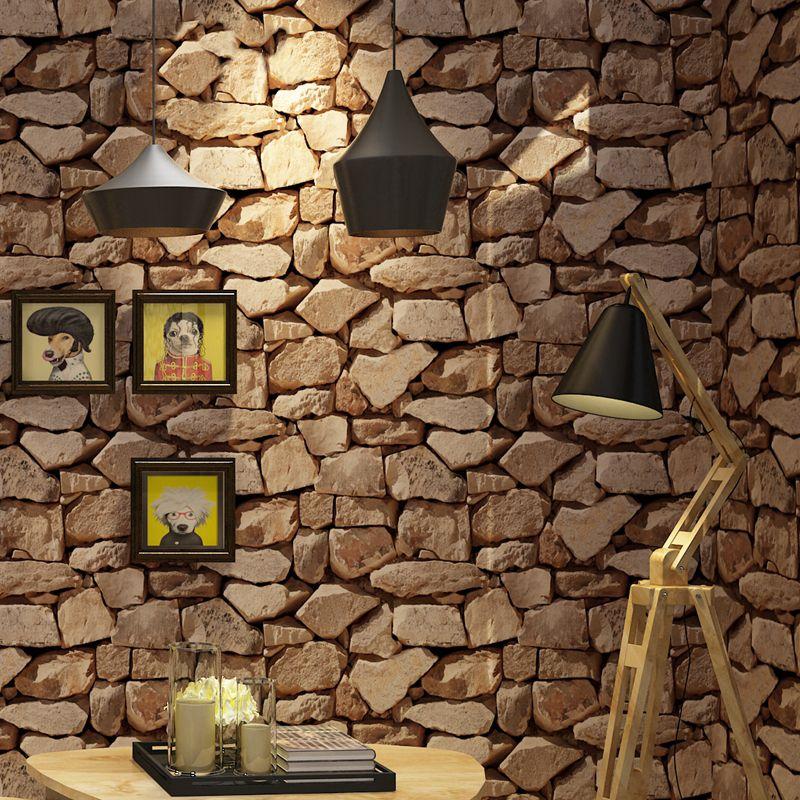 Vintage Tapeten Wasserdichte Wand Papers Home Decor 3D Felsen Imitation Stein Vinyl Wallpaper Für Wände Papel De Parede 3D
