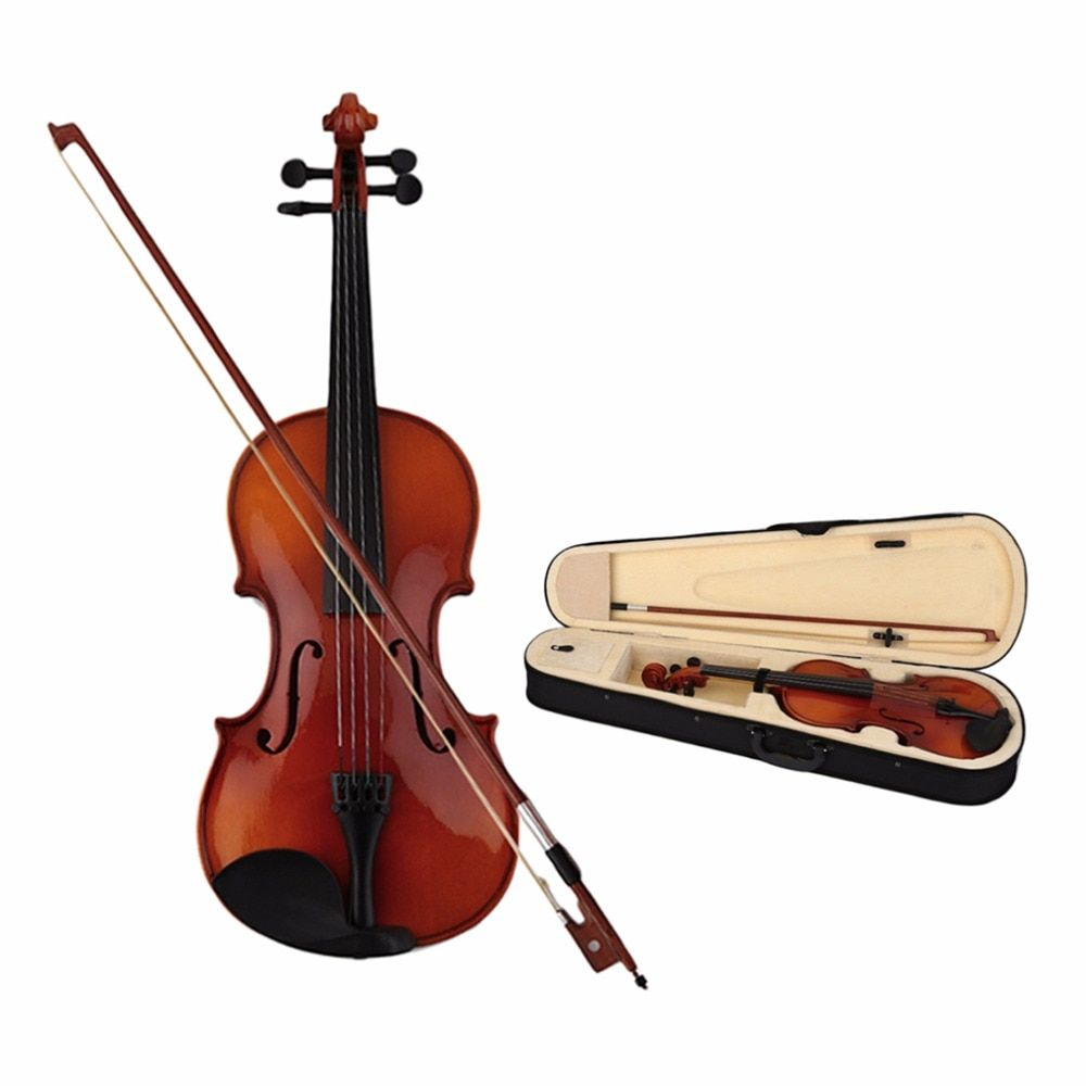 Astonvilla Professional Spruce 4/4 Violin Solid Wooden Lacquer Light 4-String Maple Fiddle with Portable Bag For Beginner