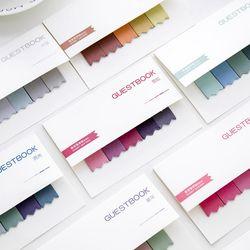 20 páginas/notas adhesivas de color Oficina Memo Pads etiqueta gradiente marcador Multicolor lindo marcador banderas pegatina planificador
