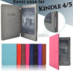 Folio pu Funda de cuero para Amazon Kindle 4/5 FRO Kindle 4/5 generación caso cubierta del imán + protector de pantalla
