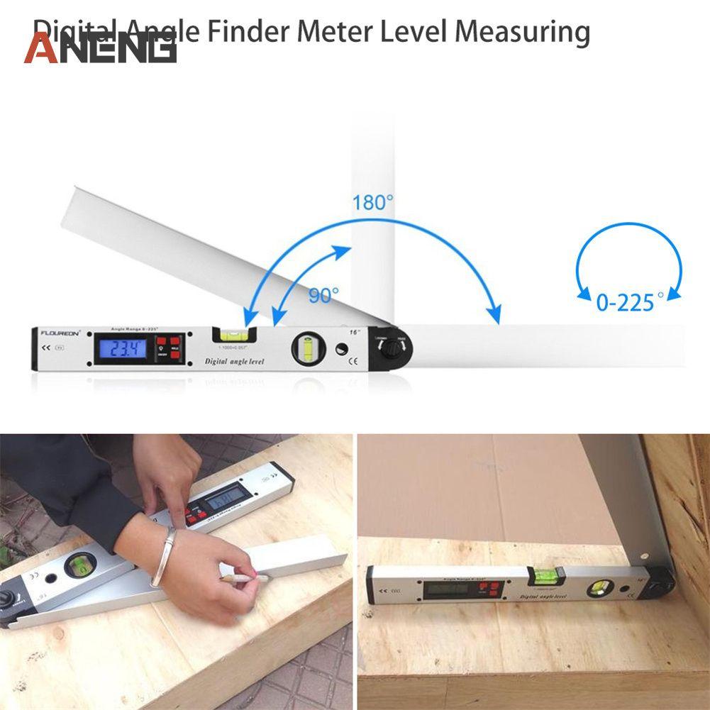 0-225 degree Electronic Protractor Digital Angle Finder Meter Level Measuring Gauge 400mm 16inch Digital Protractor