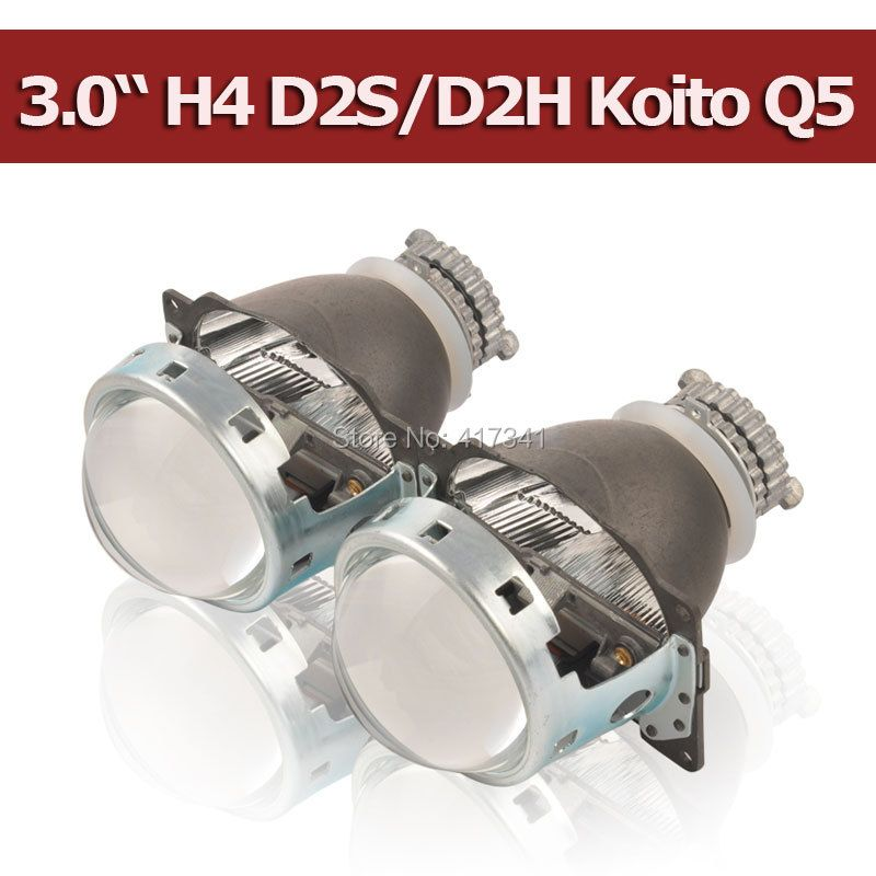 Projector Lens 3 Inches Q5 Koito D2H D2S Bi-xenon HID Bi-xenon Projector Lens LHD/RHD <font><b>Quick</b></font> Install for H4 Car headlight