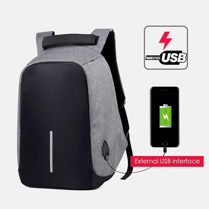 2019 marque sac à dos pour ordinateur portable USB charge Anti-vol voyage sac à dos multifonction étanche sac d'école mâle Mochila Notebook