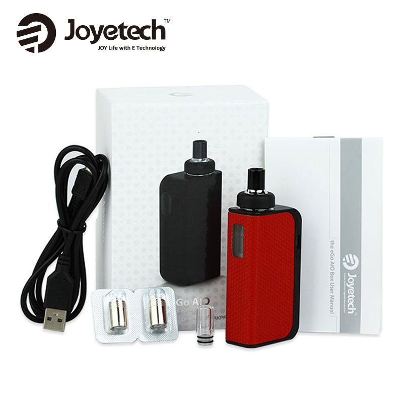 100% Original Joyetech EGO AIO Box Kit 2ml Atomizer Capacity BF SS316 Coil and 2100mAh Built-in battery joyetech AIO Kit