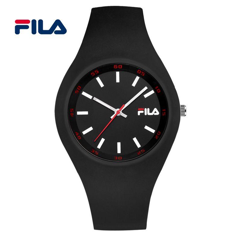 Fila 2017 Top Brand Fashion High Quality Casual Simple Style Silicone Strap Quartz Watch Women Men Lovers Wrist Watch 38-777