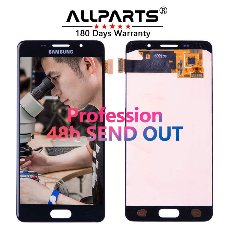 ORIGINAL 5.2 AMOLED LCD for SAMSUNG Galaxy A5 2016 LCD Display A510 A510F A510M SM-A510F Touch Screen Digitizer LCD Replacement