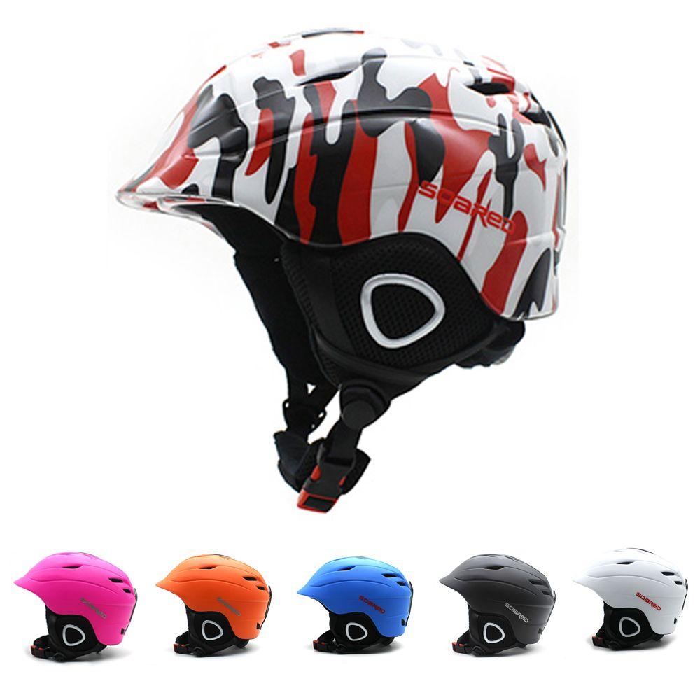 2-in-1 Cabrio-headset Ski Snowboard Helm/Bike Skate Helm Erwachsene & Kinder 4 Größen mit Mini Visier, Eltern-kind Passenden Outfit