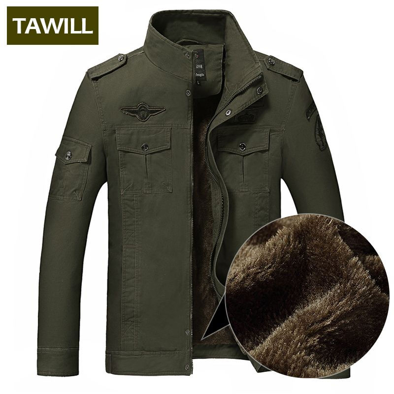 TAWILL Winter Fleece jacke männer jean military 6XL soldat baumwolle Air force one Marke kleidung Herbst Herren jacken 8331 H