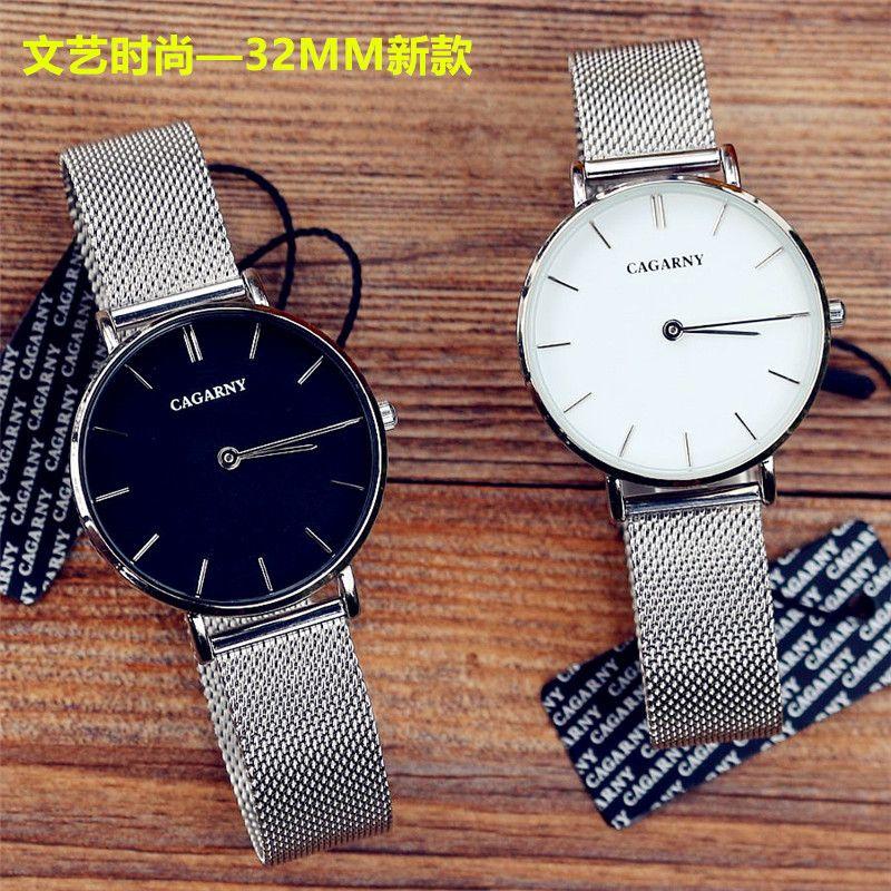 Marque de luxe femmes mode décontracté bracelet en métal 32 MM DW type montres top qualité dames argent or rose cadeau montre-bracelet