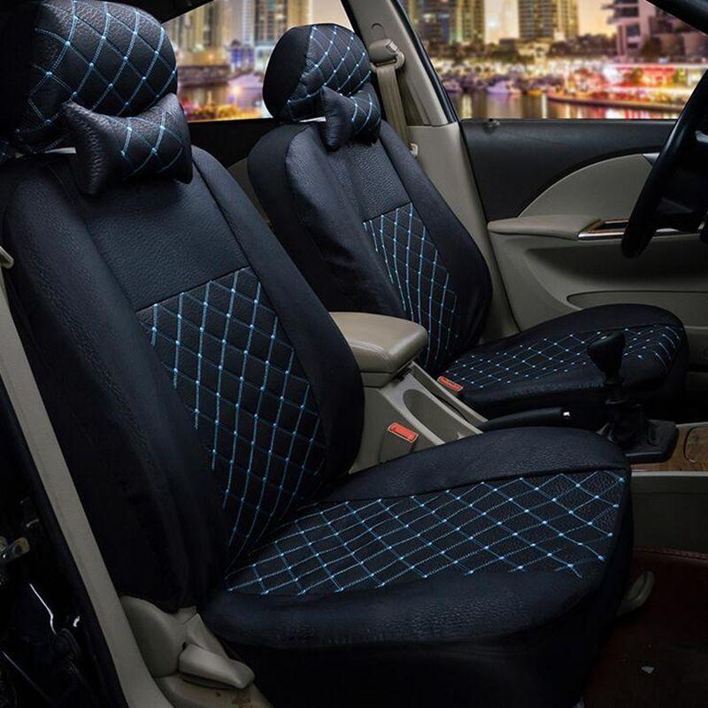 Custom Luxury Imitation Leather pattern Auto Car Seat Covers Automotive Universal FrontRear Seat for KIA RIO peugeot lada kalina