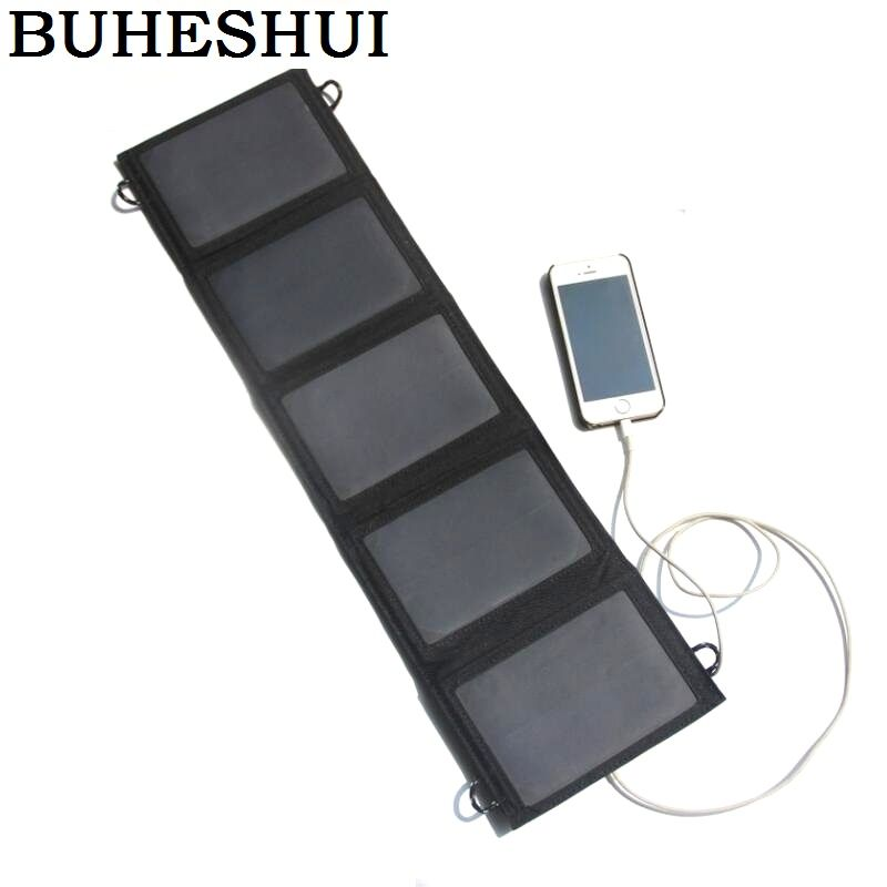 BUHESHUI 10W 5V NEW Foldable Universal Camping Travel Solar Panel USB Charger pack for iPhone Smartphones Sunpower Free Shipping