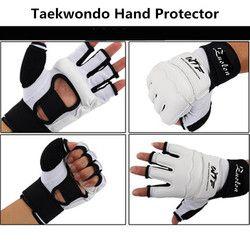 Kinder Erwachsene Half Finger Kampf Boxhandschuhe Handschuhe Sanda Karate Sandsack Protector für MMA Muay Thai Kickboxen Ausbildung Weiß