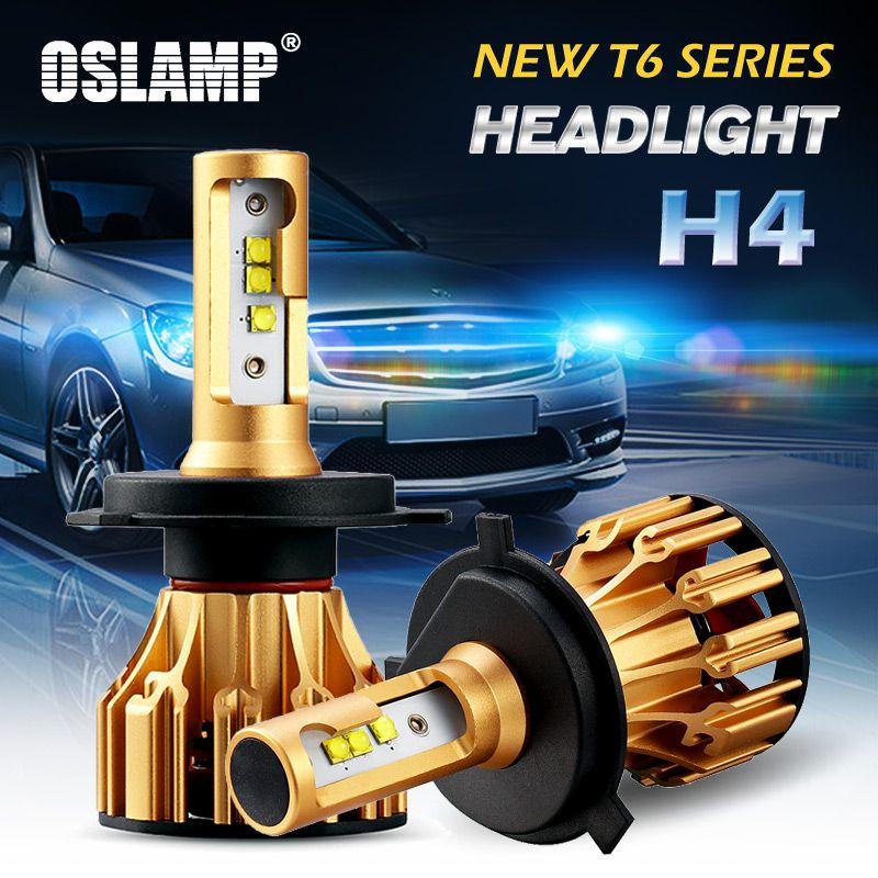 Oslamp 2 шт./компл. Hi-Lo луч H4 светодиодный фар для автомобиля 6500 К белого SMD чип 70 Вт супер яркий авто спереди лампы светодиодный H4 Освещение T6