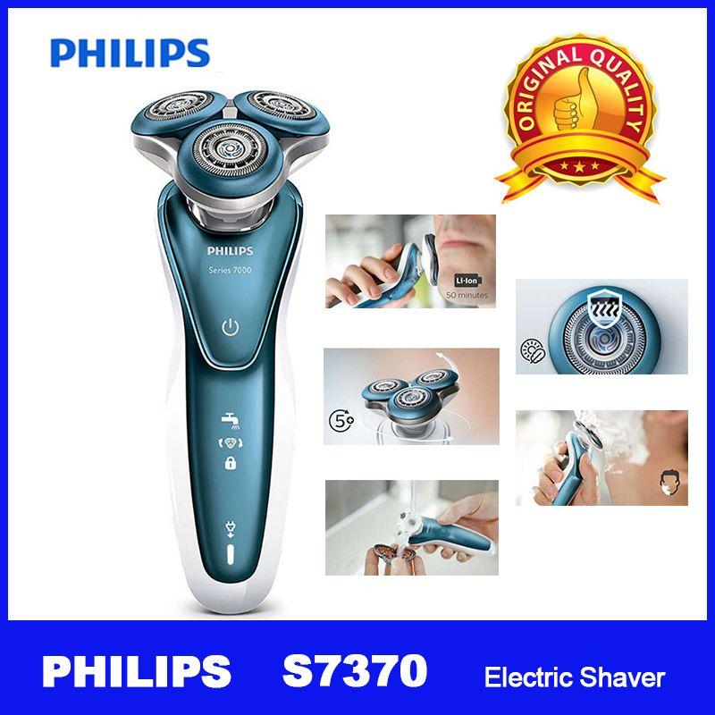 Professionelle Philips Elektrische Rasierer S7370 mit Sanfte Präzision PRO Klingen SmartClick precision trimmer Nass und trocken für männer