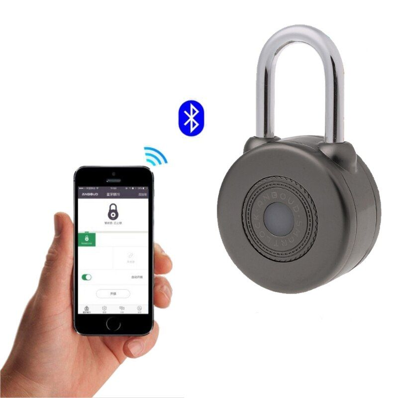 Elektronische Drahtlose Türschloss Keyless Smart Bluetooth Vorhängeschloss Master Schlüssel Arten Schloss mit APP Steuerung für Bike Motorycle Hause Tür