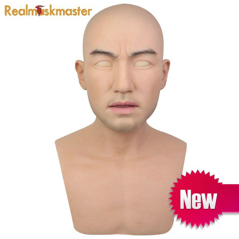 Realmaskmaster realistische künstliche halloween silikon maske Männlichen Disguise latex erwachsene volle gesicht party masken Cosplay Requisiten