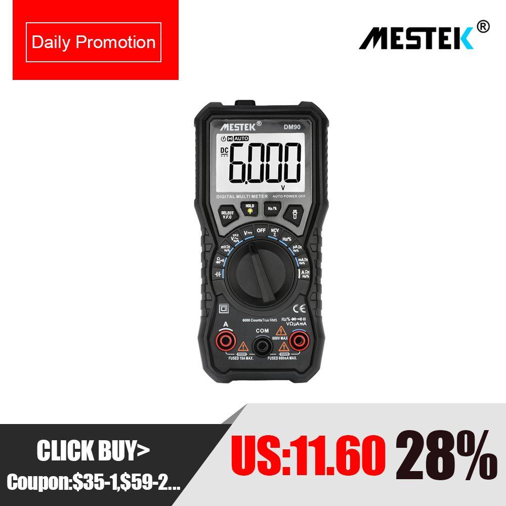 MESTEK NCV Digital Multimeter 6000 counts Auto Ranging AC/DC Voltage Meter Back light Large Screen multimeter Multitester