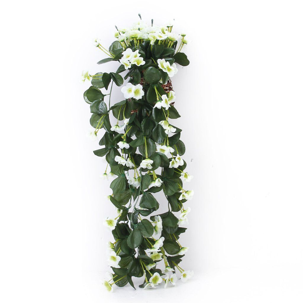 1 piece Hanging Artificial Violet Garland Flower Vine Wedding Cake Decoration White