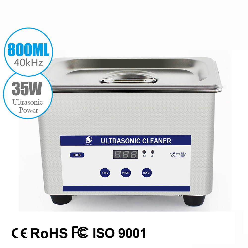 SKYMEN Digital Ultrasonic bath 800 Baskets Jewelry Watches denture 0.8L 35W 40kHz Ultrasound Cleaner Coins Nail cleaner