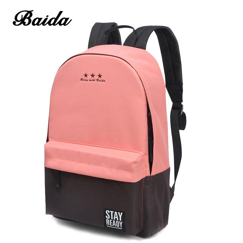 Fashion <font><b>Backpack</b></font> Women Children Schoolbag Back Pack Leisure Korean Ladies Knapsack Laptop Travel Bags for School Teenage Girls