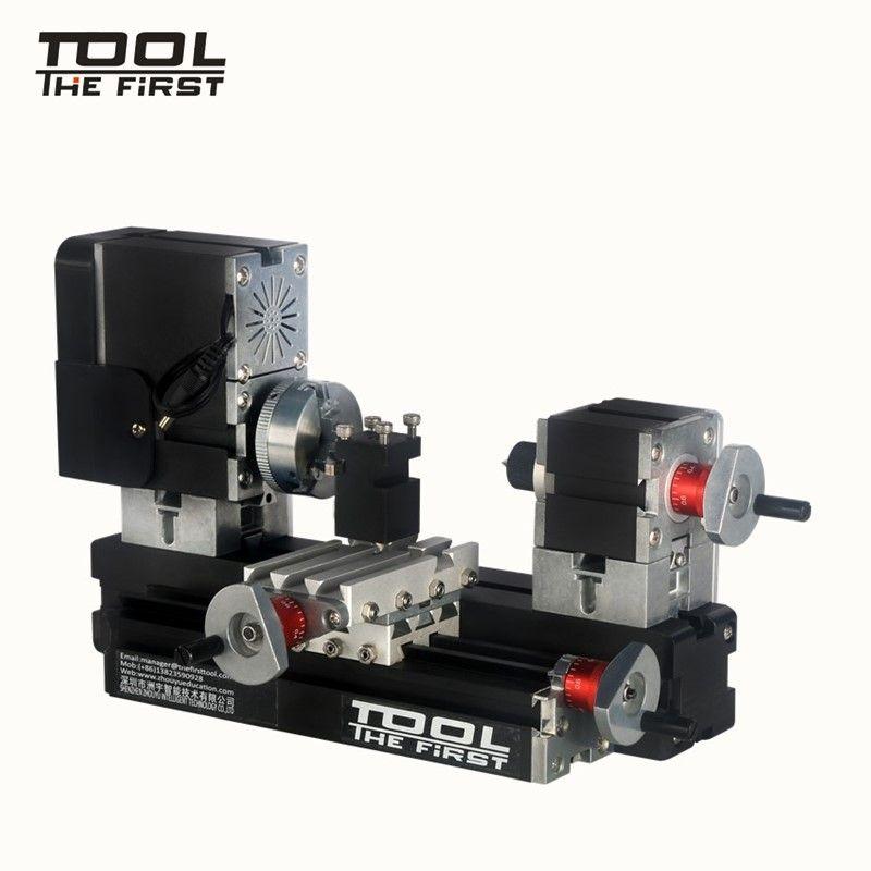 Thefirsttool TZ20002MG Mini Metal Lathe B Machine with 12000r/min 60W Motor Larger Processing Radius DIY Tools Chrildren's Gift
