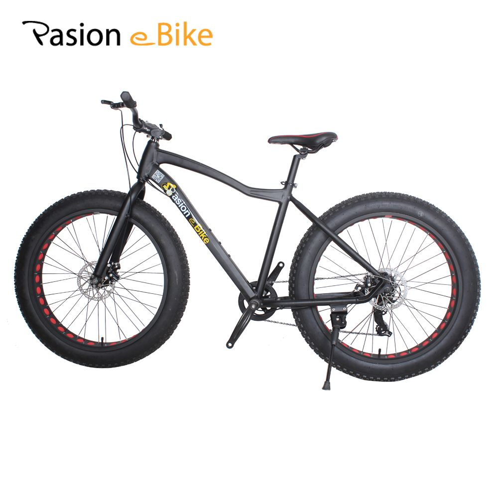 PASION E BIKE 7 speed Aluminium mountain bike black frame 26*4.0 fat tire bicycle bicicleta bikes with fender