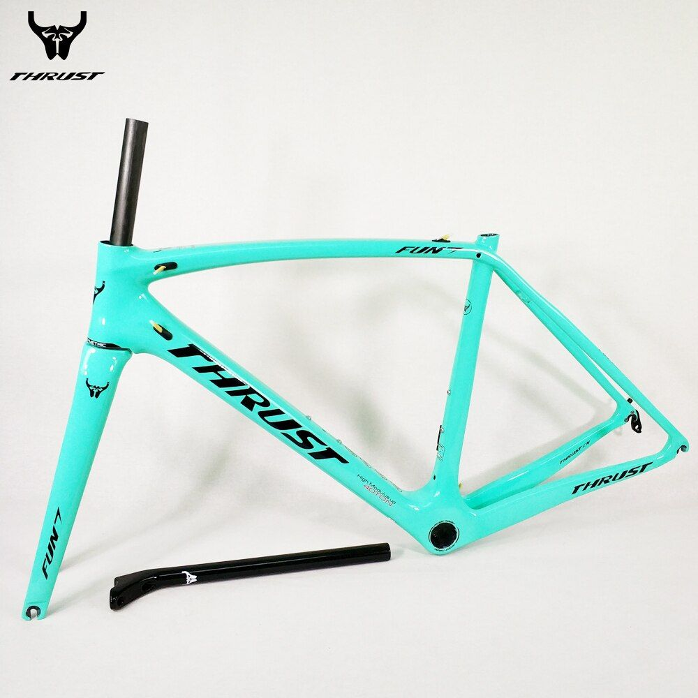 THRUST Carbon Road Frame 2018 XXS XS S M L Carbon Frame Road Racing Bike Frame UD T1000 PF30 BB30 BSA ID2 Customized for Bicycle