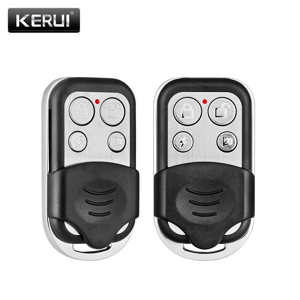 2pcs/Lot KERUI RC528 Wireless Metallic Remote Control For Wireless Security Alarm System