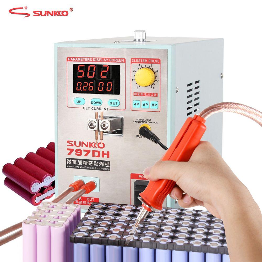 SUNKKO 797DH Spot Schweißer 3.8KW High Power Batterie Spot Schweißen Maschine Für 18650 Batterie Packs Schweiß Präzision Pulse Spot Schweißer
