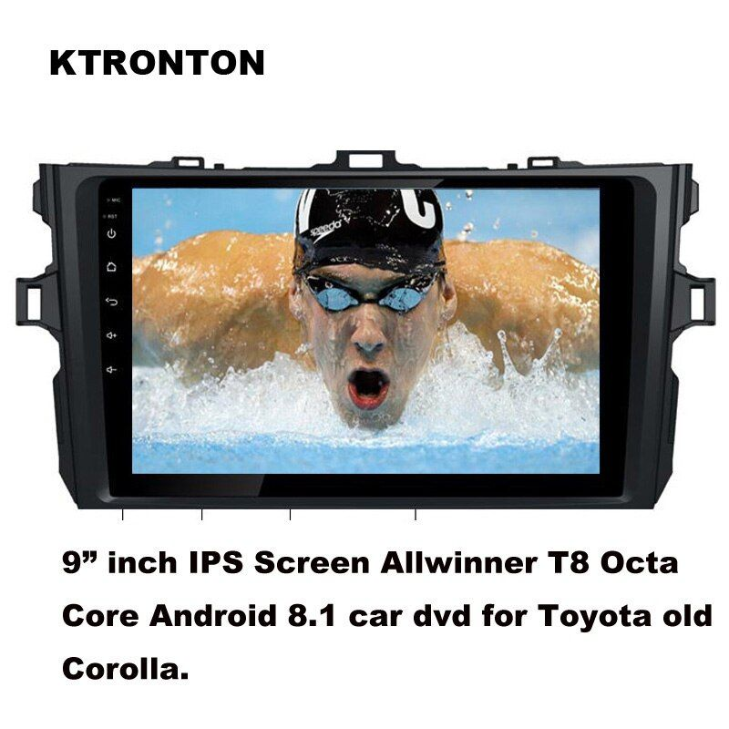 Updated ! T8 Octa-core Android 8.1 Car DVD Player for Toyota Old corolla 2007-2013 With GPS Radio BT Wifi DVR OBD 2G RAM 32G ROM