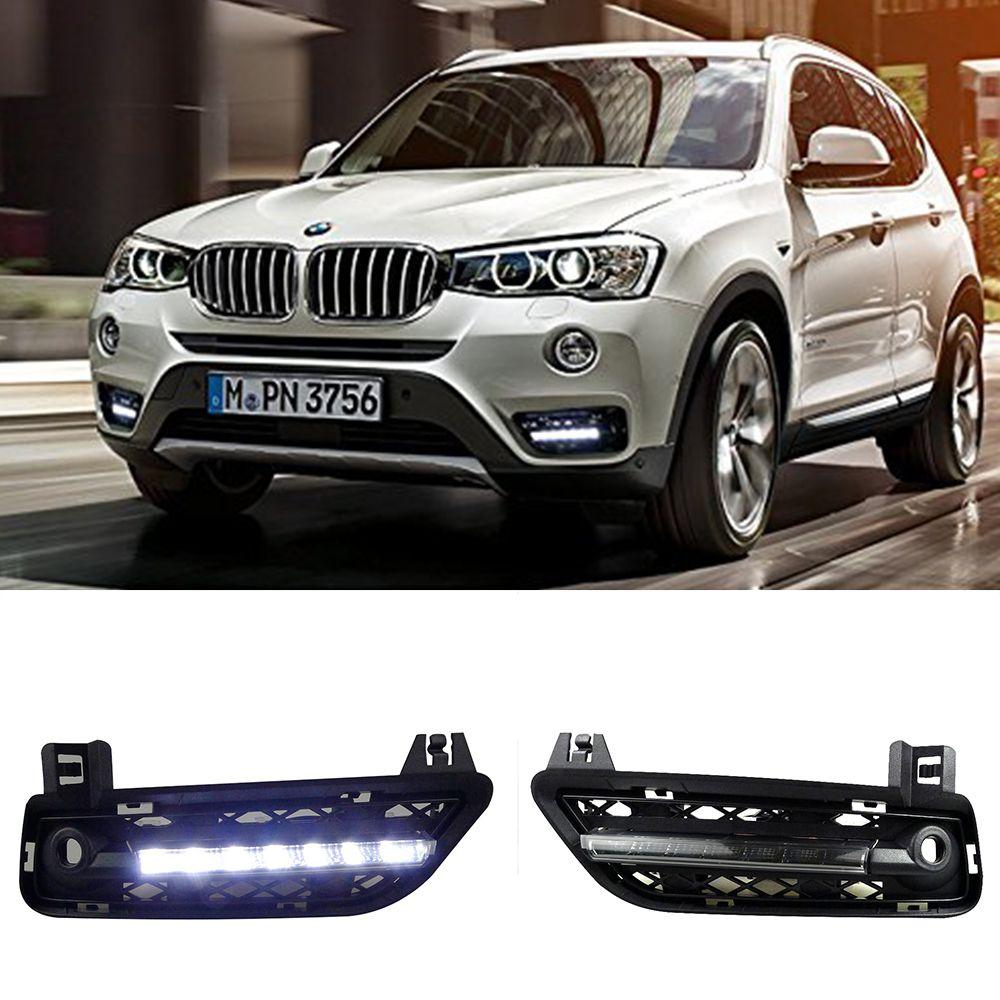 Car LED DRL Waterproof ABS Super bright 12V LED Daytime Running Light For BMW F25 X3 2011 2012