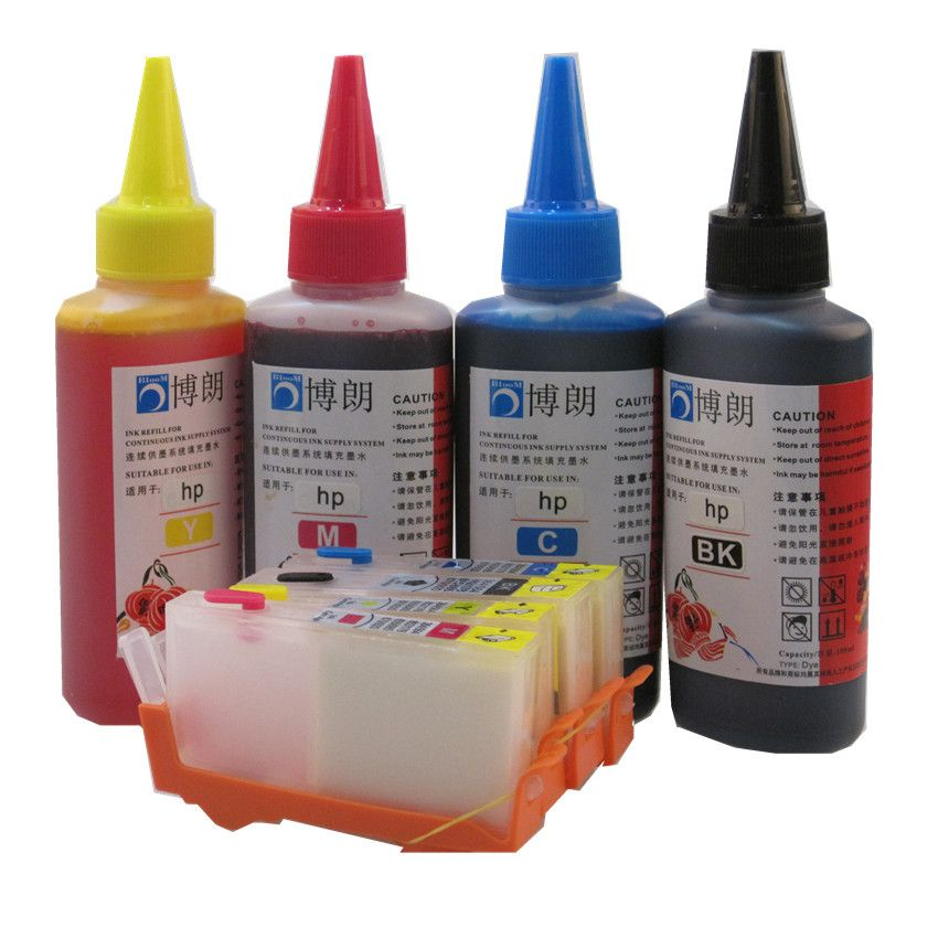 934 935 Refillable INK cartridge for HP Officejet pro 6230 6830 6835 6812 6815 printer + for hp Premium 4 Color Dye Ink 400ML