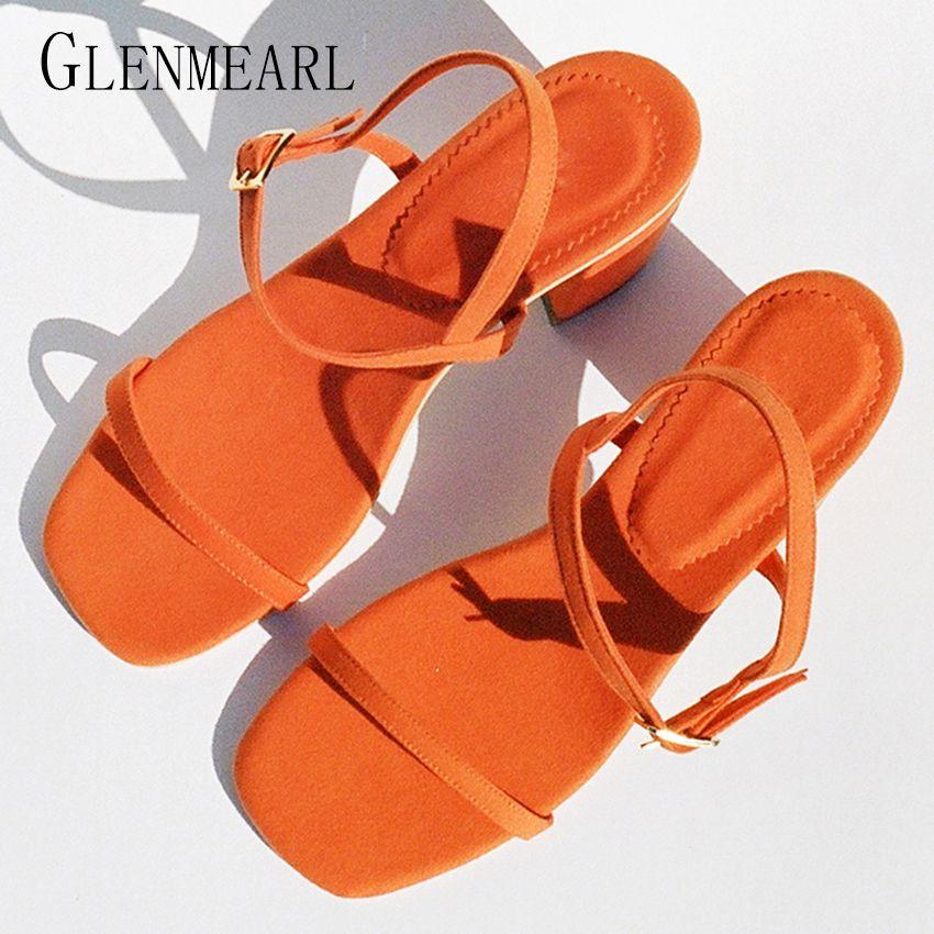 2019 Rome été haut talon femmes sandales chaussures grande taille talon épais poisson bout ouvert chaussures de fête pompes pour les femmes sangle haute Shoes38