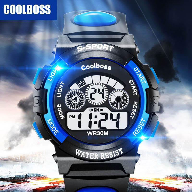 Fashion Sport Student Children Watch Kids Watches Boys Girls Clock Child LED Digital Electronic Wrist Watch for Boy Girl Gift