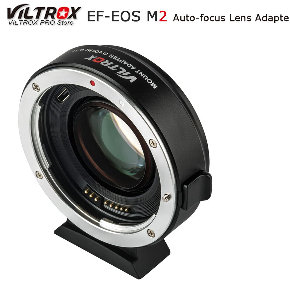 Viltrox EF-EOS M2 AF Auto-focus EXIF 0.71X Reduce Speed Booster Lens Adapter Turbo for Canon EF lens to EOS M5 M6 M50 Camera