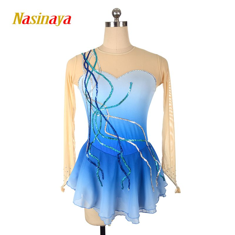 Nasinaya Figure Skating Dress Customized Competition Ice Skating Skirt for Girl Women Kids Patinaje Gymnastics Performance 002