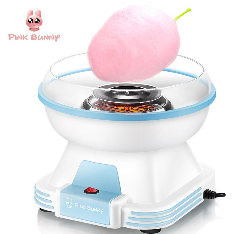 Cotton Candy Maker Electric Mini Household DIY Sugar Machine For Cotton Candy <font><b>Sweet</b></font> Floss Food Processors Machine Kids Gift
