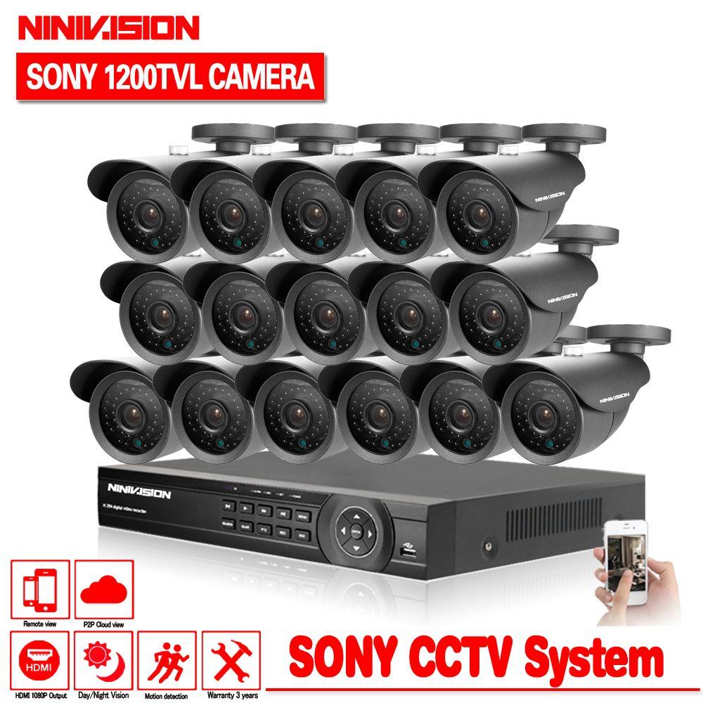 Startseite 16ch AHD DVR mit SONY 1200TVL indoor kamera cctv-system videoüberwachung kit 16 kanal hdmi 1080 p kit