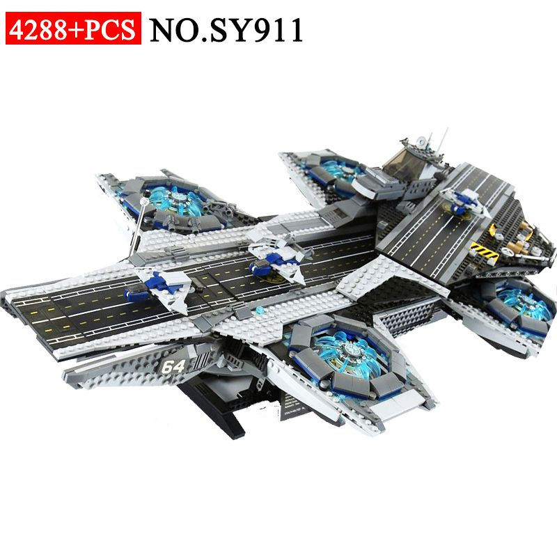 SY911 Super Heroes series the Shield Helicarrier Model Building Blocks set Compatible with 76042 Classic Toys for children