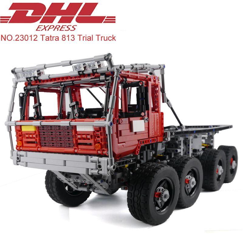Lepin 23012 2839Pcs Technic Figure MOC Tatra 813 Trial Truck Model Building Kits Blocks Bricks Educational Toy For Children Gift