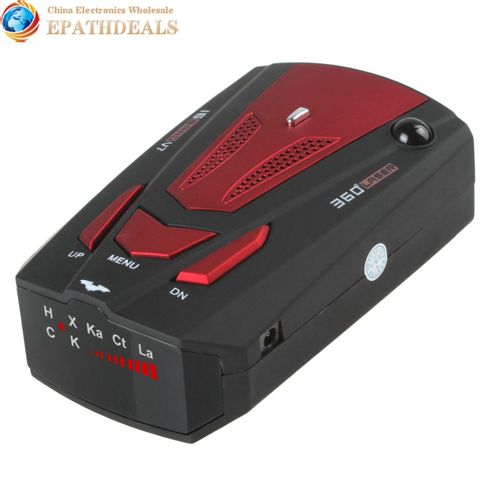 V7 Car Radar Detector 360 Degree Detection English & Russian Voice Alert 16 Band Auto Anti Radar Detector for Car Speed Limited