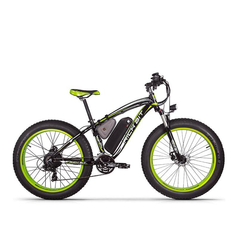 RichBit RT-012 Plus 21 s Elektrische Fahrrad Mit Computer Tacho elektrische Kilometerzähler Leistungsstarke Elektrische MTB Bike 17AH 1000 W eBike