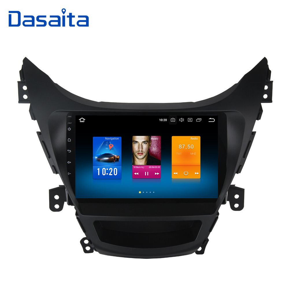 Dasaita Android 8.0 Car Multimedia for Hyundai Elantra I35 Avante Radio 2010 2011 2012 2013 NO DVD 9